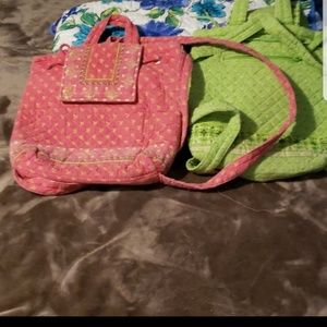 Pre-owned used set of 2 backpacks